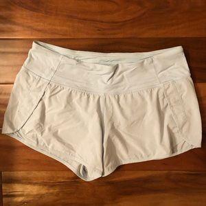 Light blue Lululemon running shorts